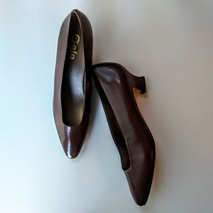 Golo Brown Leather Pumps Size 8.5 N